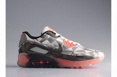 new styles e9640 05073 Nike Air Max 90 25th Anniversary Ice Diamond Womens Running Shoes  Transparent Gray Red Hot Sale