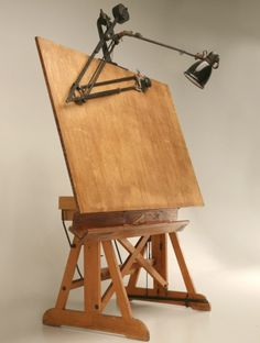 Vintage Wooden Drafting Table   Perhaps You Have Seen Or Touched An Antique  Box? You Will Surely Feel The Thrill Of Touchi