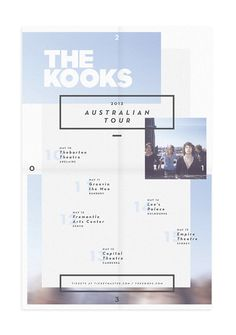 The Kooks Australian Tour Poster / Record by alex lachance, via Behance