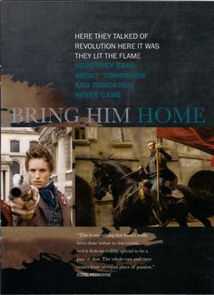 Les Mis (2012) | 'Bring Him Home.' + 'Empty Chairs And Empty Tables' Eddie Redmayne (Marius).