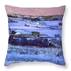 David Bridburg Throw Pillow featuring the digital art Inv Blend 18 Van Gogh by David Bridburg