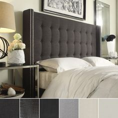 INSPIRE Q Marion Nailhead Wingback Tufted Queen-sized Headboard - Overstock™ Shopping - Big Discounts on INSPIRE Q Headboards