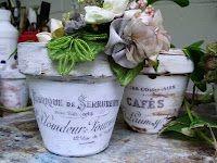 "Plain-Jane Terra Cotta Pots made ""French"""