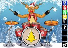 Reindeer Drummer | Digipuzzle.net Christmas Games, Reindeer, Fun, Holiday Party Games, Hilarious