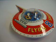 VINTAGE HAJI JAPAN FLYING SAUCER 8-TIN FRICTION-ATC-SPACE TOY-YONEZAWA-ICHIKO- | eBay