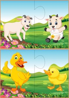 Mother and baby animals matching puzzle activities for toddlers Farm Animals Preschool, Fall Preschool Activities, Fun Activities For Toddlers, Animal Activities, Toddler Preschool, Activities For Kids, Mother And Baby Animals, Kids Educational Crafts, Fun Worksheets For Kids