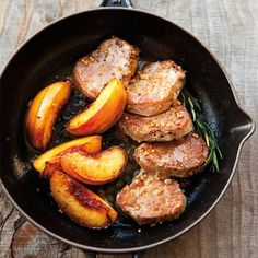 Williams-Sonoma Recipe Of The Day: A sweet-savory combo that highlights sweet summer nectarines! Pork Medallions with Roasted Nectarines. Click image for more info and recipe...
