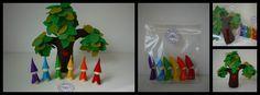Rainbow gnomes + felt tree - Sakkjes en zo