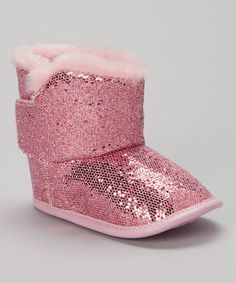 Take a look at this Pink Sequin Boot by Adorababy on #zulily today!