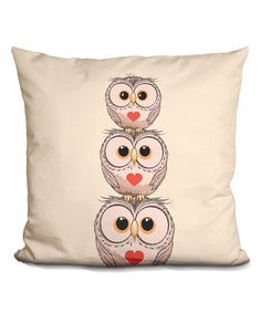Loving this Little Pitti Three Owls Throw Pillow on #zulily! #zulilyfinds