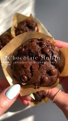 Fun Baking Recipes, Sweet Recipes, Dessert Recipes, Cooking Recipes, Food Cravings, Food Dishes, Food And Drink, Yummy Food, Chocolate Muffins
