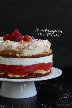 Rhubarb Raspberry Meringue Cake | Bake to the roots