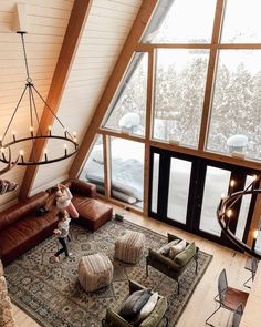Just over a week ago, Monday, February our a-frame cabin that we have been renovating for the past year burned to the ground. A Frame Cabin, A Frame House, Uo Home, Casas Containers, House Of Beauty, Cabin Interiors, Cabin Design, Cozy Cabin, Cabin Homes
