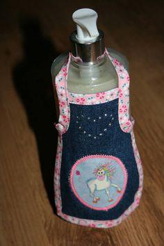 Schürze Kleid Crazy Unicorn für Flaschen und