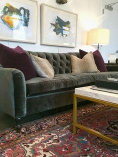 velvet sofa at OKL