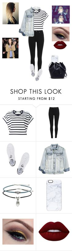 """""""Trip to England✈️"""" by treasurematlock ❤ liked on Polyvore featuring Vanessa Bruno Athé, adidas Originals, Topshop, Casetify, Lime Crime and Lacoste"""