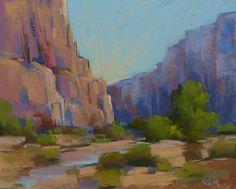 Contemporary Landscape Southwest Zion by KarenMargulisFineArt,