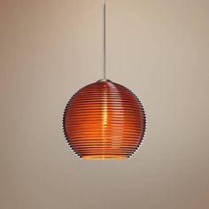 "Besa Kristall 6"" Wide Amber Mini Pendant - #4C193   Lamps Plus"