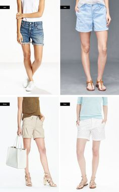 1. Levi's, $98 / 2. Gap, $30 / 3. Banana Republic, $68 / 4. Banana Republic, $58