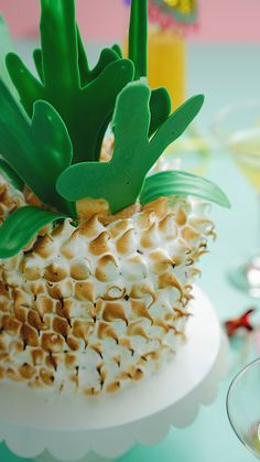 This pineapple cake with torched meringue is a sure showstopper. Check out our cake decorating hacks for some great tips and tricks.