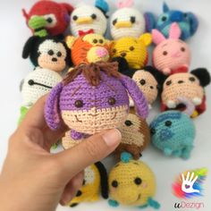 """This pattern is available only in English language. For those who love cute things, Tsum Tsum Eeyore is at the perfect size to hold on your palm or attach on your bag to be your traveling companion. Format: PDF document of 8 pages with detailed instructions. Finished size: approx. 3"""" tall with fingering/worsted yarn with 4/0 hook. Youll be able to download the PDF file as soon as your payment has been confirmed. Youll receive an email by Etsy with the link for download. --------..."""