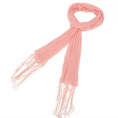 Solid Color Stripe Scarf Coral $5.90 The Solid Color Stripe Scarf is a great lightweight scarf with a variety of uses and comes in 8 different colors.