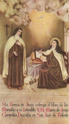 Catholic Art, Catholic Saints, Religious Art, Sainte Therese De Lisieux, Ste Therese, St Theresa Of Avila, Maria Goretti, Vintage Holy Cards, Saint Quotes