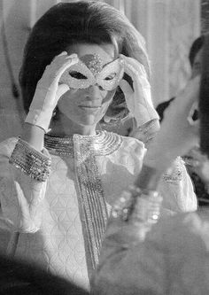 Lee Radziwill, sister to Jaqueline Kennedy, at Truman Capote's Black and White Ball, 1966