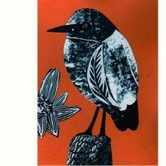Orange Heron by Fiona Roderick Australian Birds, Bird Prints, Heron, Sketchbooks, Printmaking, Journals, Collage, Orange, Drawings