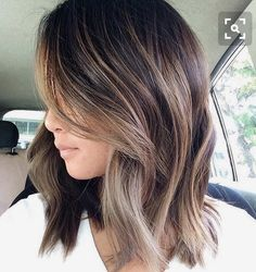 Great blond bayalage on dark brunette base