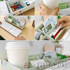 DIY Paper Box Organizer Desk Computer Storage Holder Mak Up Cosmetic Holder Case | eBay