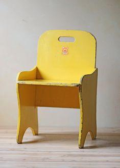 vintage child size wooden chair