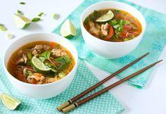 Thaise kippensoep Recept -