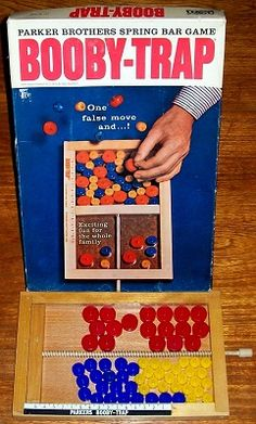 BOOBY TRAP | Board Game by Parker | Vintage Board Games & Classic Retro Antique Toys at VINTAGE PLAYTIME