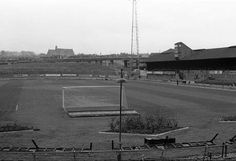 The Muller Road End, South stand to the right, flower beds behind the goals. Bristol Rovers Fc, Football Kits, Flower Beds, Goals, Soccer Kits, Soccer Equipment, Garden Beds, Flowers Garden