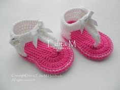 Crochet baby sandals, gladiator sandals, inspiration only