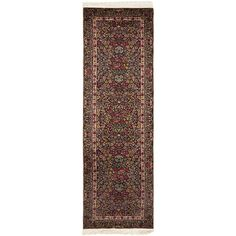 Safavieh Couture Hand-Knotted Royal Kerman Traditional Multi Wool Rug - 2'6' x 10'