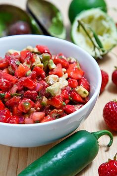 We couldn't pass this Strawberry and Avocado Salsa up courtesy of the Florida Strawberry Growers Association!