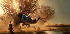 Croods: Turkey Fish Hunt!   Leighton Hickman Art