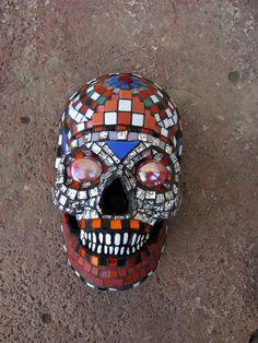 Sugar Skull Day of the Dead Dia de los Muertos Mosaic