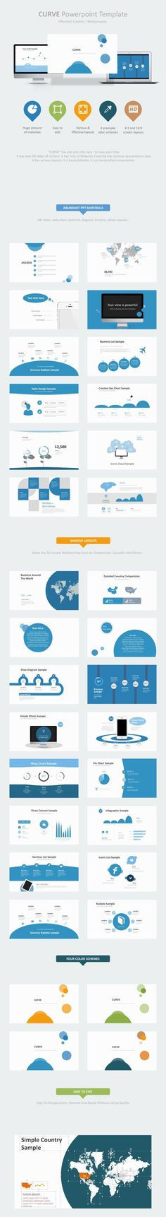 Curve Creative Multipurpose PowerPoint Template (PowerPoint Templates)