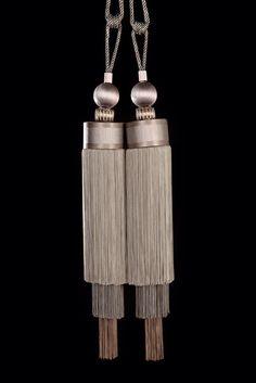 Luxurious tassel tieback in fifty shades of grey by Monika de Silva www.mdsdesigns.co.uk