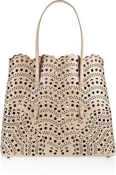 Alaïa Laser-cut leather tote | NET-A-PORTER.COM