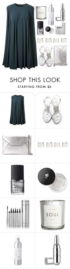 """Procrastinating"" by juliehalloran ❤ liked on Polyvore featuring CO, Delman, MICHAEL Michael Kors, Maison Margiela, NARS Cosmetics, Lancôme, H&M, Max Benjamin and Flo"