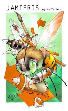 word hard like bee Bee Drawing, Drawing Sketches, Art Drawings, Desenho New School, Graffiti Characters, Tattoo Project, Desenho Tattoo, Cartoon Sketches, Marker Art