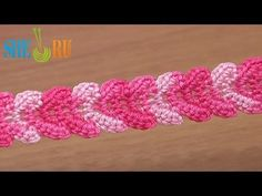 ▶ Crochet Braid Lace Ribbon Tutorial 30 Single Crochet Stitches - YouTube