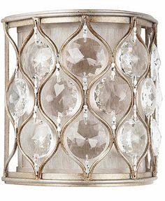 Murray Feiss Lighting, Lucia Collection Crystal Wall Sconce