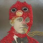 stacey page - artist embroiders on vintage photos