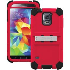 TRIDENT KN-SSGXS5-TG000 Samsung(R) Galaxy S(R) 5 Kraken A.M.S. Series(TM) Case with Belt Clip Holster (Green)