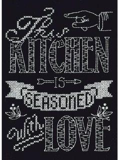 Kitchen Chalkboard - Cross Stitch Kit